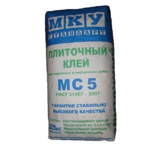 Плиточный клей МКУ МС 5